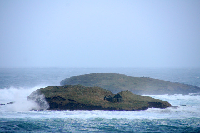 Brough Holm, Westing, in a storm