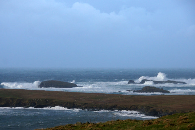 The Westing holms in a storm from Underhoull