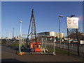 TQ3979 : Silvertown Tunnel boreholes (2) by Stephen Craven