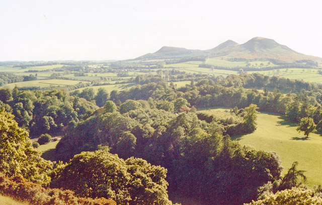 'Scott's View' from Bemersyde Hill to the Eildons