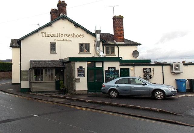 East side of Three Horseshoes pub & dining, Malpas, Newport