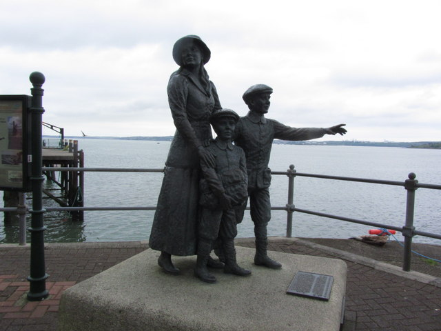 Cobh - Statue to Annie Moore; First immigrant to Ellis Island USA