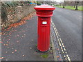 SO7847 : Front of a Victorian fluted pillarbox, Malvern Link by Jaggery
