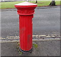 SO7847 : Crown side of a Victorian fluted pillarbox, Malvern Link by Jaggery