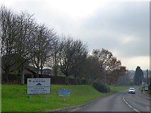 SO4942 : Sign for Hereford on A4110  by David Smith