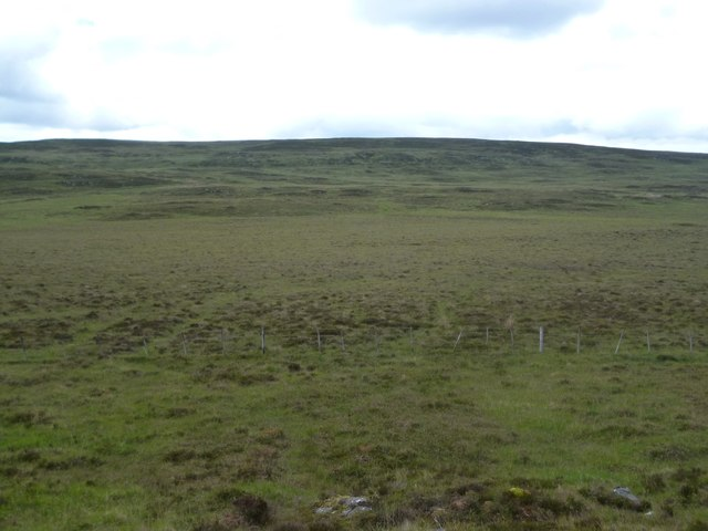 Very flat and boggy col west of Loch Cracail Mor