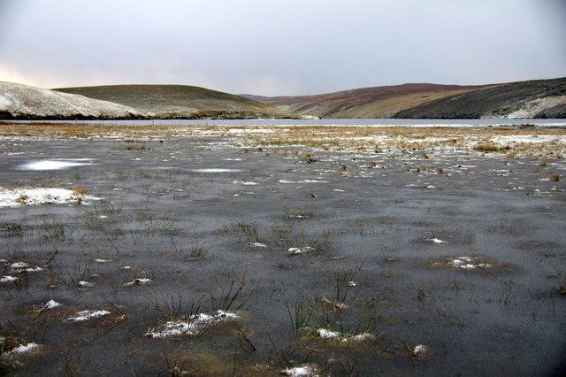 Frozen floods on the Links of Burrafirth