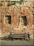 SO8454 : Remains of the Worcester city wall by Philip Halling