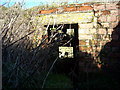 SU0669 : Entrance to bunker in WW2 gun emplacement in round barrow, north of West Down by Vieve Forward