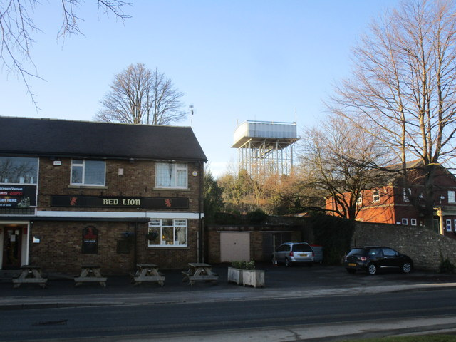 Red Lion Inn and water tower