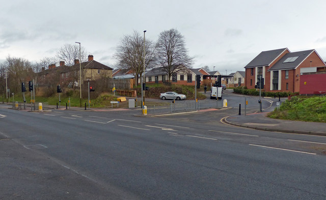 Saffron Lane/Hawkins Road junction