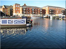 SO8453 : Apartments overlooking Diglis Basin. by Philip Halling