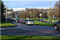 SU6151 : Sunday morning traffic queue on Worting Road by David Martin