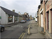 NH5558 : View N along Hill St, Dingwall towards Castle St Church by Colin Park