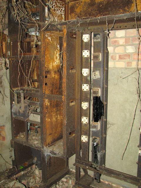 The old electricity substation (interior)
