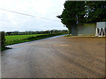 SU6517 : Footpath leaves industrial unit to join minor road near Chidden by Shazz