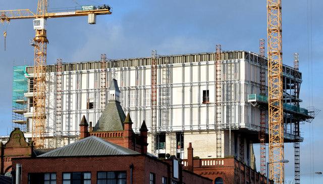 """Block """"B"""" University of Ulster site, Belfast - December 2014(1)"""