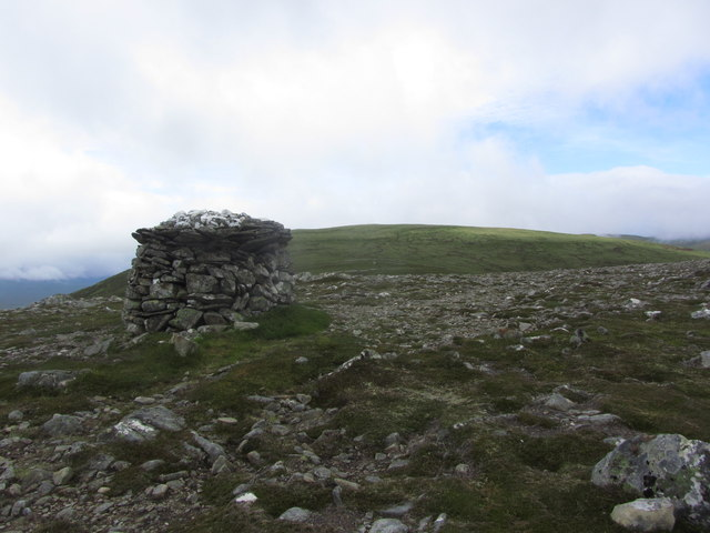 Large cairn on Meall Coire nan Laogh above Strath Vaich