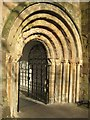 SO8454 : Norman arch, Worcester Cathedral by Philip Halling