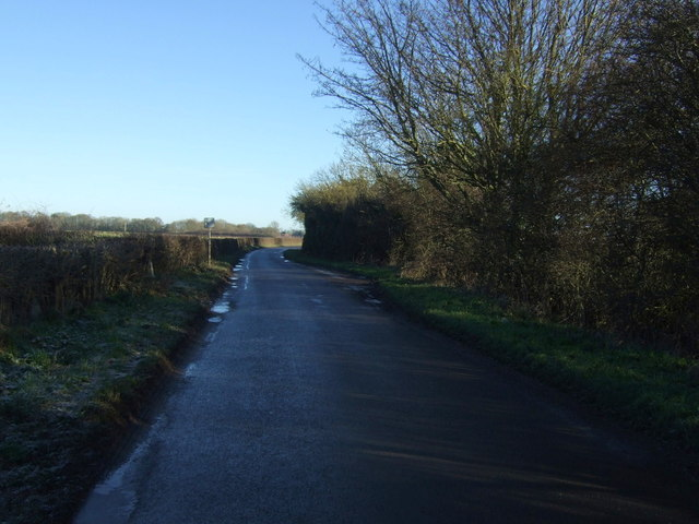 Minor road towards Wansford