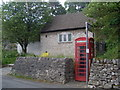 SK1854 : Telephone Exchange and Red Telephone Box, Parwich by David Hillas