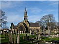 SE7524 : Hook Road Cemetery and Chapel by Graham Hogg