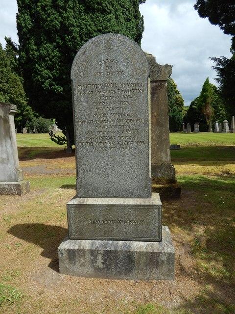 Gravestone of Matthew Paul