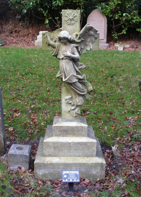 Restored head stone, Manor Road cemetery