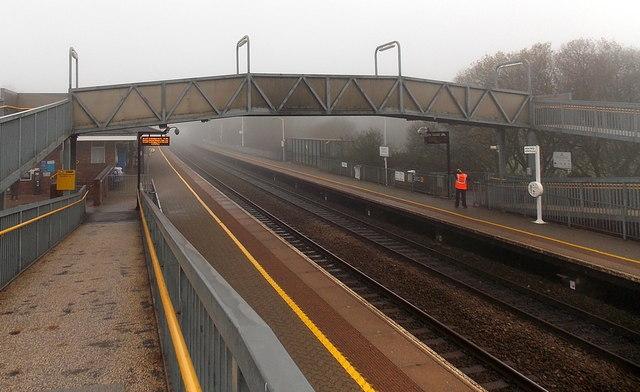 Tiverton Parkway railway station footbridge