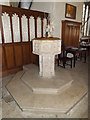 TM3968 : Font  of St.Peter's Church by Adrian Cable