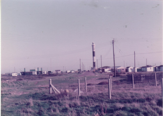 The new Dungeness lighthouse, 1982