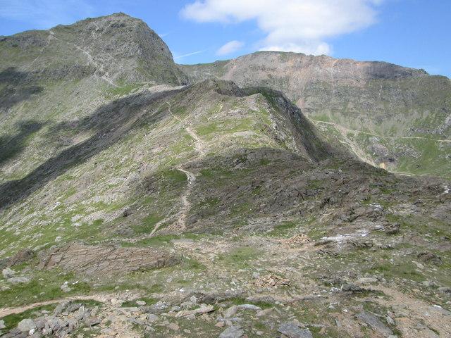 Watkin Path up Snowdon from Bwlch y Saethau