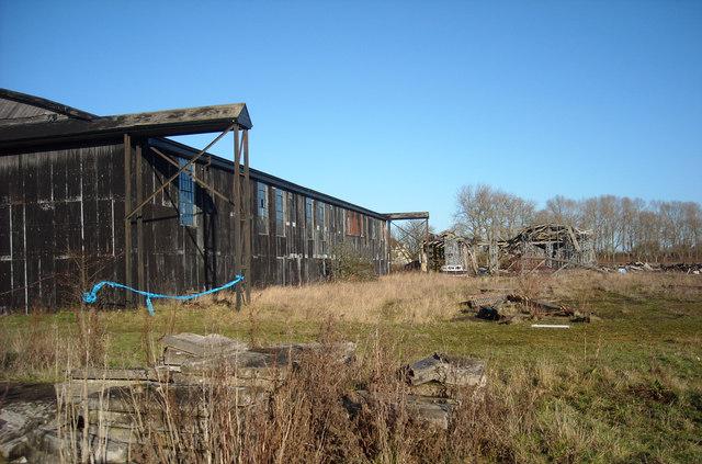 Hangars, former RAF Yatesbury air base