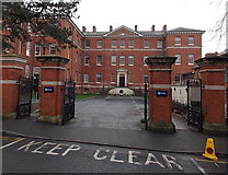SO8455 : Infirmary Walk entrance to the University of Worcester City Campus by Jaggery
