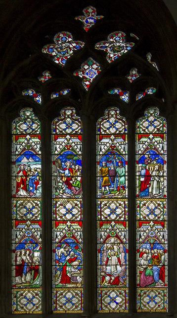 Stained glass window, St Mary Magdalene church, Newark