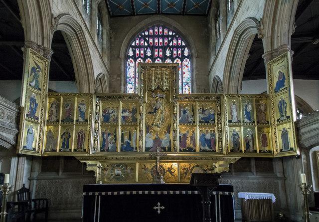 Triptych reredos, St Mary Magdalene church, Newark