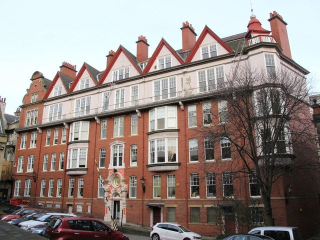 The rear of Cathedral Buildings, Dean Street, NE1
