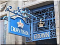 NZ2563 : Signs for the Crown Posada, Side, NE1 by Mike Quinn