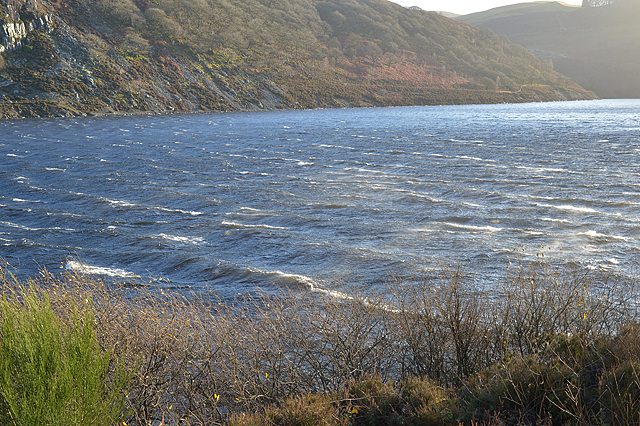 Waves on Caban-coch reservoir