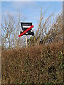 TM4266 : Protest sign on the B1122 Leiston Road by Adrian Cable
