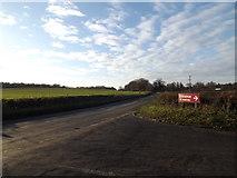 TM3869 : A1120 Yoxford Road, Hemp Green by Adrian Cable