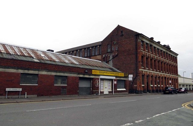 Factory building on Great Tindal Street