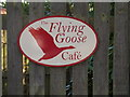 TM3869 : Flying Goose Cafe sign by Geographer