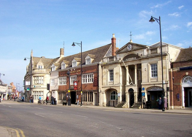 The town centre at Bourne, Lincolnshire