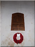 TM3669 : Sibton Roll of Honour  in St.Peter's Church by Geographer