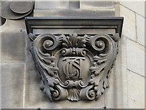 NZ2564 : CastleGate, Melbourne Street, NE1 - corbel on former office entrance by Mike Quinn