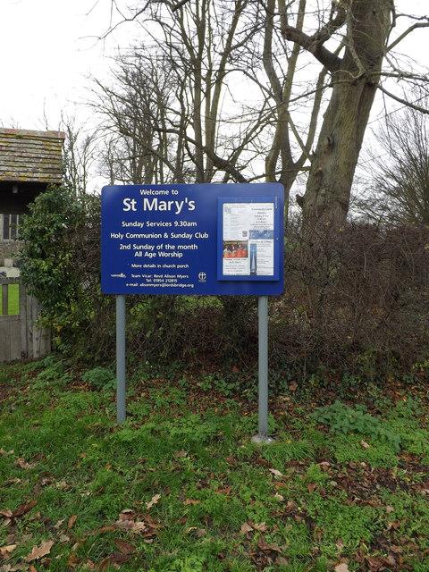St.Mary's Church notice board