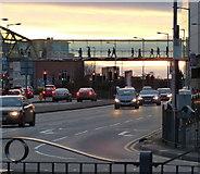 SK5804 : Footbridge across Vaughan Way by Mat Fascione