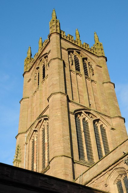 The tower of St Lawrence's church, Ludlow by Philip Halling