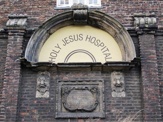 (The former) Holy Jesus Hospital, City Road, NE1 - entrance (detail)